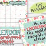 May 2018 Calendar and Motivational Thought about Encouragement