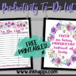 "Free Printable To-Do List and Tips to Being Productive, Not ""Busy"""