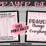 Free Printable Prayer List! Never doubt the power of prayer…