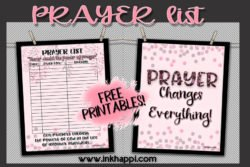 Free Printable Prayer List! Never doubt the power of prayer…