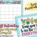 August 2018 Calendar and a Positive Thought