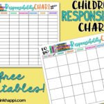 Childrens Responsibility Charts. Free Printables!