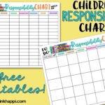 Childrens Responsibility Charts. Free Printables!