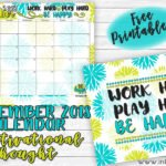 September 2018 Calendar and Motivational Print