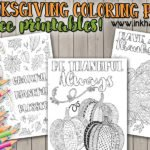 Thanksgiving Coloring Pages for fun or decor!