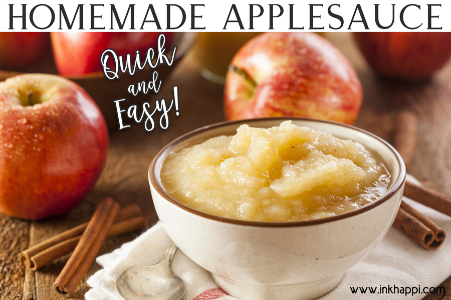 Homemade Applesauce and Varieties of Apples