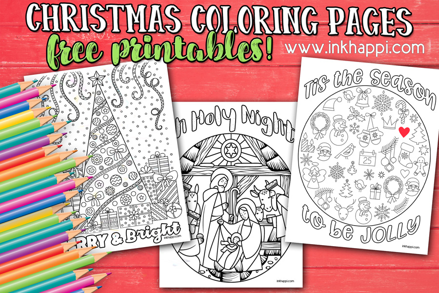 Christmas Coloring Pages and some fun Christmas jokes!