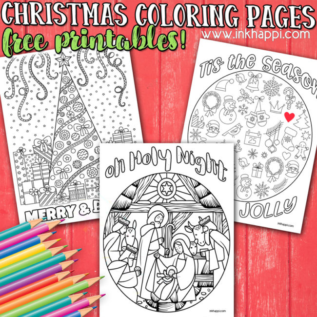 Some fun Christmas coloring pages and jokes! #freeprintables  #coloring #christmas #jokes