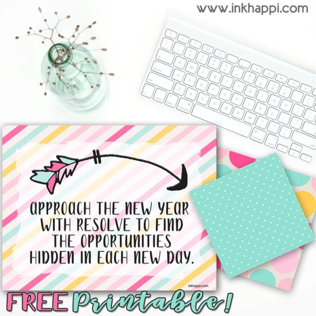 January 2019 Calendar and motivational thought from inkhappi. #freeprintables #calendar #quotes