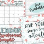 March 2019 Calendar and some more self love!