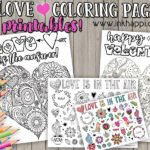 Love Coloring Pages… LOVE is the answer!