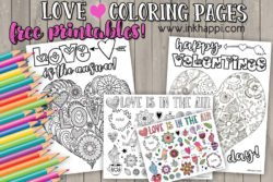 Love coloring pages. #freeprintables #love #valentines #coloringpages