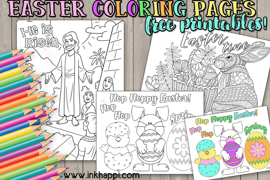 Easter coloring pages. #freeprintables #love #easter #coloringpages