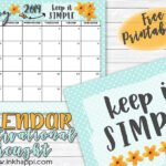 May 2019 Calendar and a simple message!