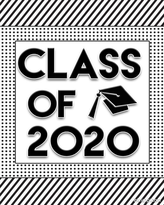 Class of 2020 #graduation #freeprintables #banner