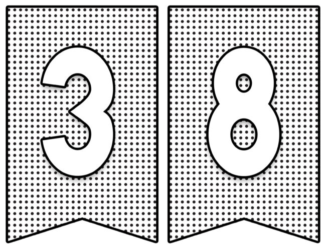 class of... numbers #graduation #freeprintables #banner