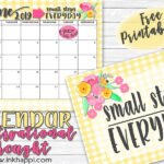 "June 2019 Calendar and ""Small Steps Everyday""!"