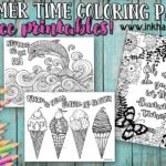 Summertime Coloring Pages to help beat summer boredom!