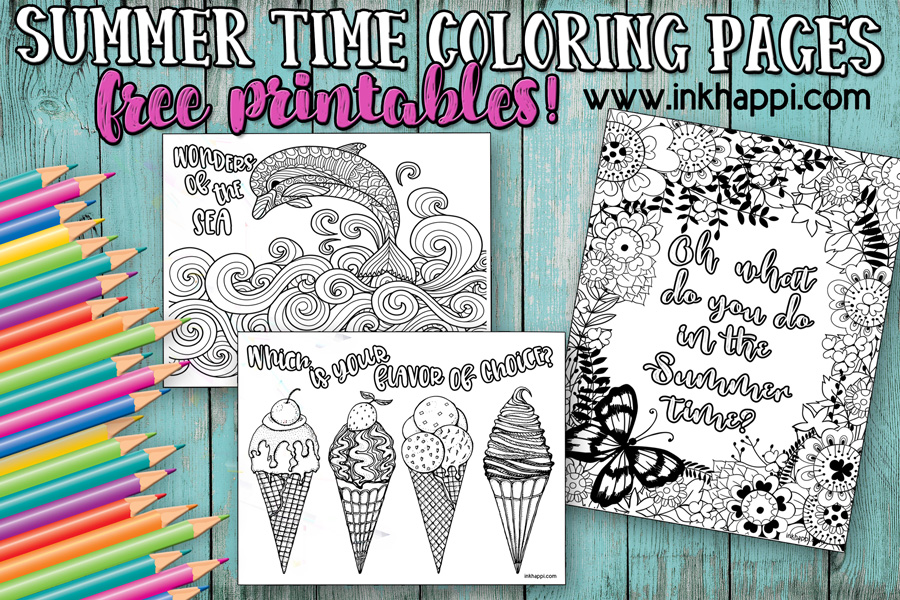 Free Summer Coloring Pages Free Coloring Pages Summertime Krocing ... | 600x900
