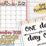 September 2019 Calendar and Motivational Thought