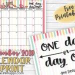 September 2019 Calendar and Motivational Thought