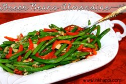 Green Beans Almondine. Flavorful and delicious vegetable dish that will particularly please the men in the house!