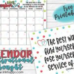 December 2019 Calendar and a thought about Service