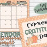 November 2019 Calendar and Some Daily Gratitude