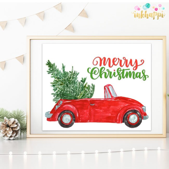 holiday car and tree photo