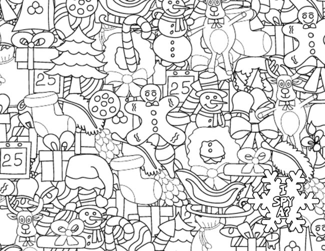 i spy christmas holiday coloring pages #coloring #christmas