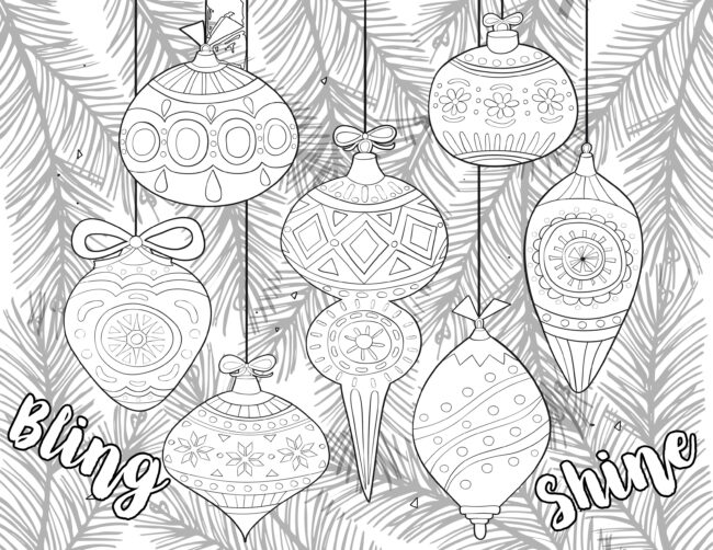 ornaments  holiday coloring pages #coloring #christmas