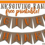 Thanksgiving Banners… Give Thanks, and Let's decorate!