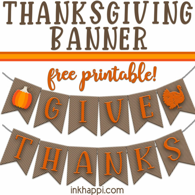 thanksgiving banner square