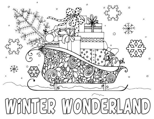winter wonderland holiday coloring pages #coloring #christmas