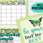 March 2020 Calendar and 30 ideas to be your BEST self!