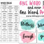 One Word Ideas and Over 70 One Word Motivational Prints