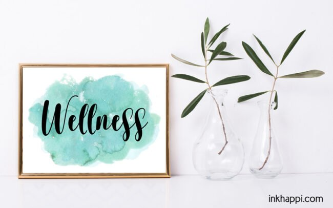 Wellness print. Over 70 words available!