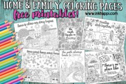 Home and Family coloring pages #freeprintable #coloringpages