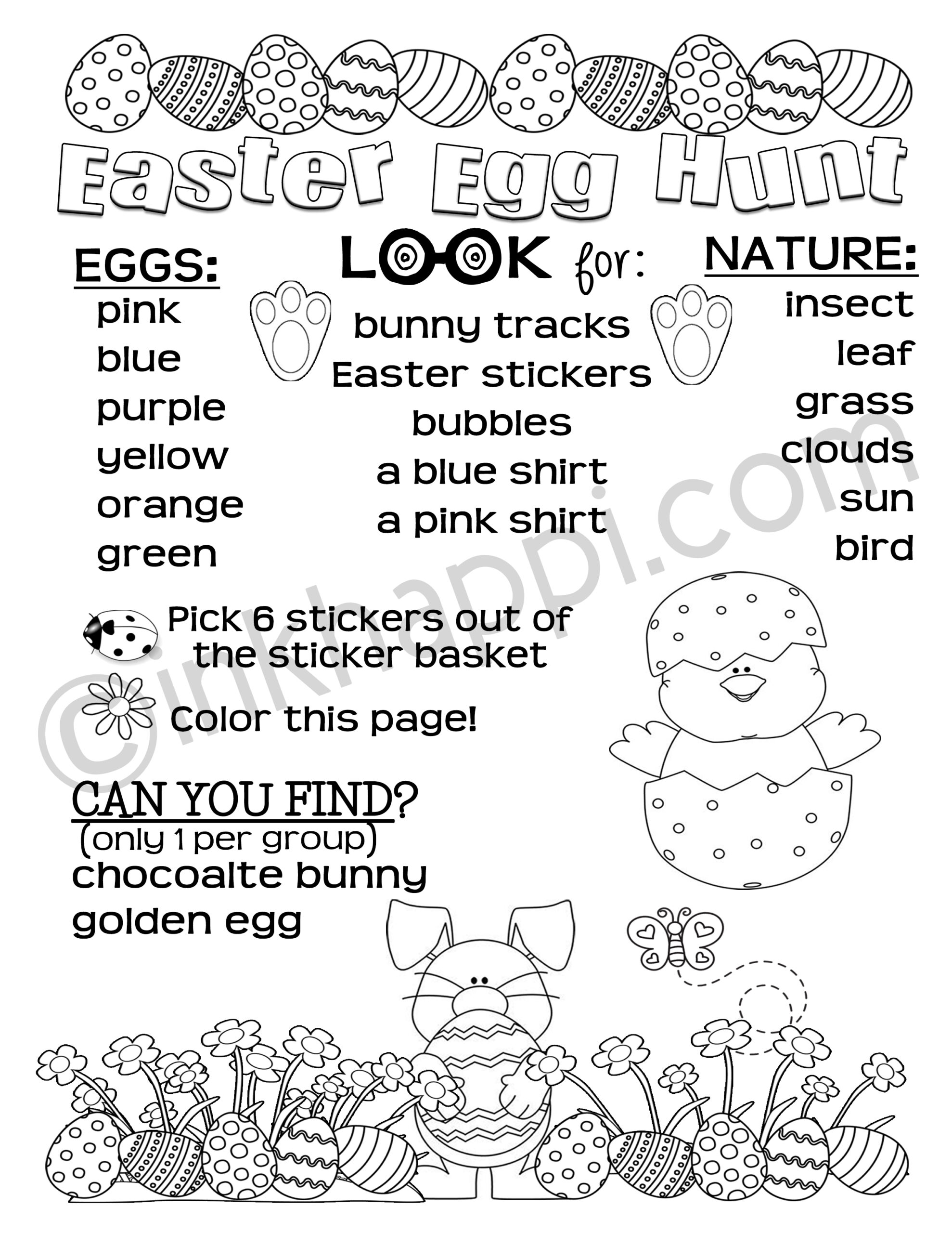 Easter Egg Hunt all planned out for you plus free printables ...