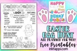 Easter Egg Hunt all planned out for you including free printables! #easteregghunt #freeprintables #easter