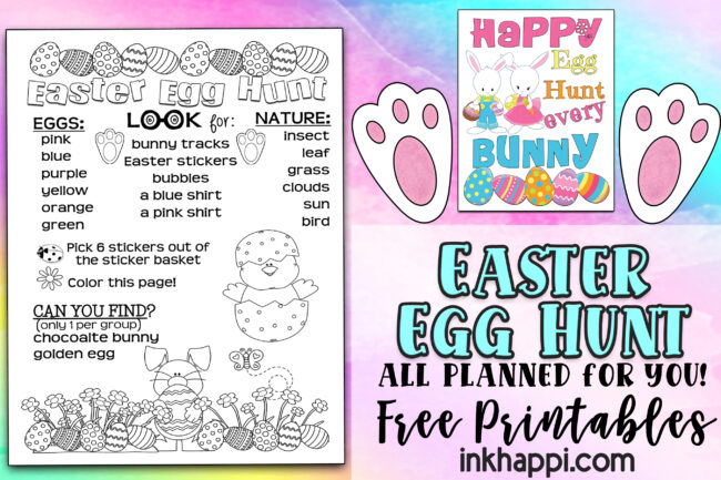 Easter Egg Hunt all planned out for you including free printables! #easteregghunt #freeprintables #easter