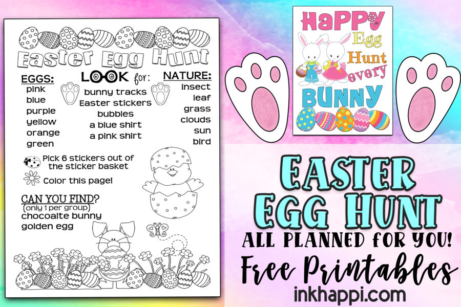 Easter Egg Hunt all planned out for you plus free printables!