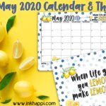 May 2020 Calendar and We're Making Lemonade!