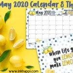May 2020 Calendar and We're Making Lemonade!
