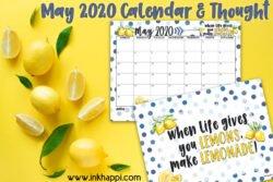 When life gives you lemons... make lemonade #calendar #freeprintable #makelemonade