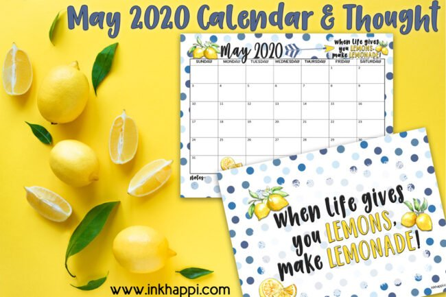 When life gives you lemons... make lemonade #calendar #freeprintable #makelemonade