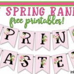Printable Spring Banner A-Z. Great addition to your decor!