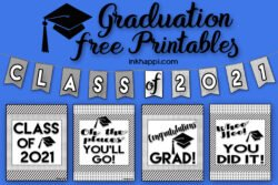 Graduation Printables to help celebrate the special occasion. Banners and posters included. #graduation #freeprintables #banner