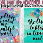 I know that my Redeemer lives free printables