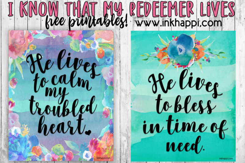 I know that my Redeemer lives free printables #christ #easter #freeprintables #lds